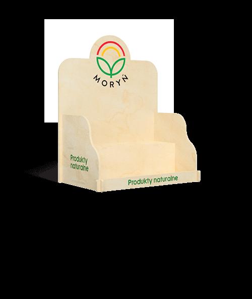 Ekspozytor naladowy do sklepu na naturalne produkty spożywcze - przykład produktu